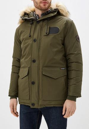 Куртка утепленная Geographical Norway. Цвет: хаки