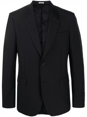 Однобортный пиджак строгого кроя Alexander McQueen. Цвет: черный