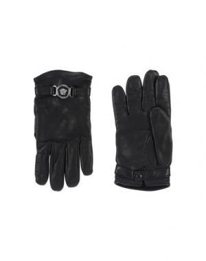 Перчатки GIANNI VERSACE. Цвет: черный