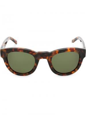 Солнцезащитные очки Type 04 Sun Buddies. Цвет: коричневый
