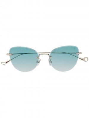 Солнцезащитные очки Liz в оправе кошачий глаз Eyepetizer. Цвет: золотистый