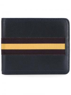 Бумажник с полосатой отделкой Dries Van Noten. Цвет: синий