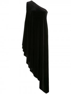 Платье-туника на одно плечо Norma Kamali. Цвет: черный