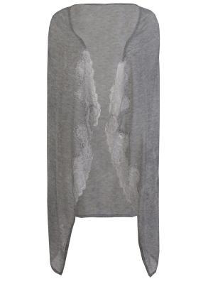 Комбинированный халат ERMANNO SCERVINO. Цвет: серый