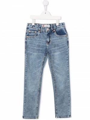Levis Kids джинсы из вареного денима Levi's. Цвет: синий