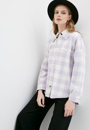 Рубашка Maje. Цвет: фиолетовый
