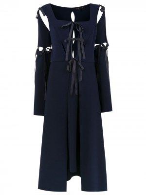 Midi panelled dress Gloria Coelho. Цвет: синий