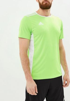 Футболка спортивная adidas ENTRADA 18 JSY. Цвет: зеленый
