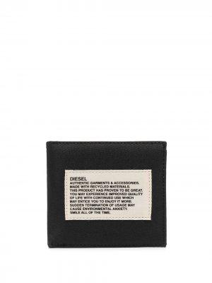 Бумажник с нашивкой-логотипом Diesel. Цвет: черный