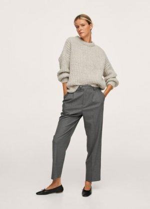 Прямые брюки с защипами - Celia Mango. Цвет: серый