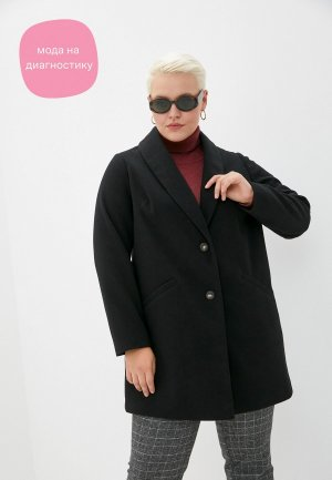 Пальто Dorothy Perkins Curve. Цвет: черный