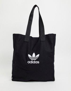 Черная сумка-шоппер Adicolor-Черный цвет adidas Originals