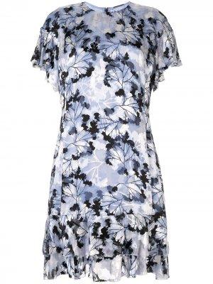 Платье Yonica Elie Tahari. Цвет: синий