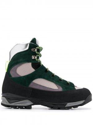 Ботинки с контрастными вставками Diemme. Цвет: зеленый