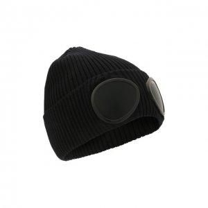 Хлопковая шапка C.P. Company. Цвет: синий