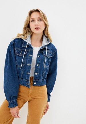 Куртка джинсовая Diverius. Цвет: синий