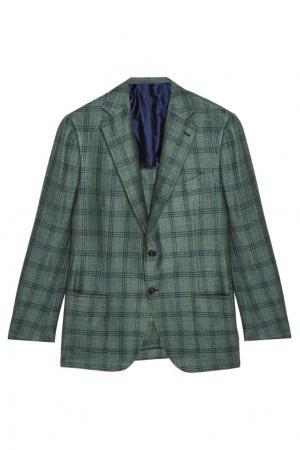 Пиджак в клетку Cesare Attolini. Цвет: зеленый