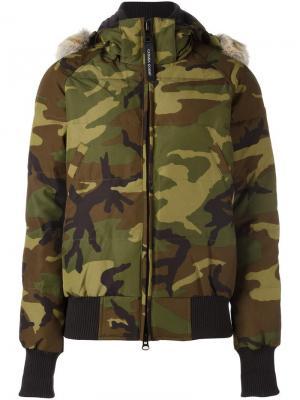 Savona bomber jacket Canada Goose. Цвет: зелёный