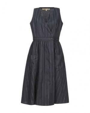 Платье до колена BONSUI. Цвет: темно-синий