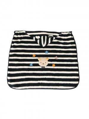 Спальный мешок в полоску с капюшоном Familiar. Цвет: синий