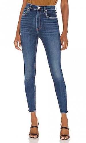 Скинни Hudson Jeans. Цвет: синий