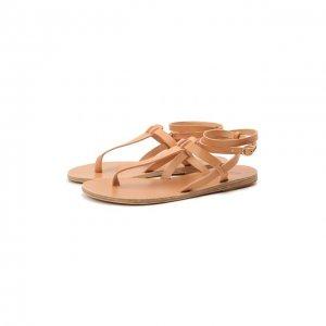 Кожаные сандалии Estia Ancient Greek Sandals. Цвет: бежевый