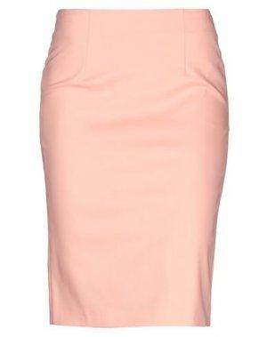 Юбка до колена G.SEL. Цвет: лососево-розовый