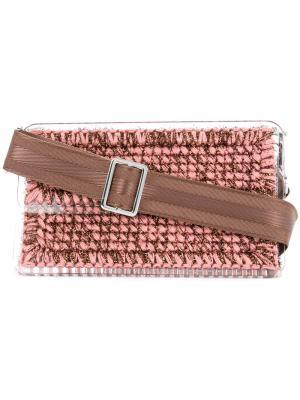 Плетеная сумка плечо Michel St. Tropez 0711. Цвет: розовый