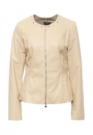 Куртка кожаная Liu Jo LI687EWOPY50. Цвет: бежевый
