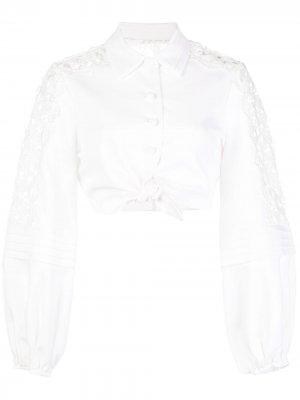 Укороченная рубашка Toilan Alexis. Цвет: белый