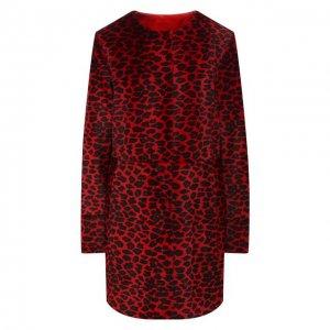Меховое пальто DROMe. Цвет: красный