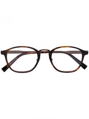 Очки в круглой оправе Ermenegildo Zegna. Цвет: коричневый