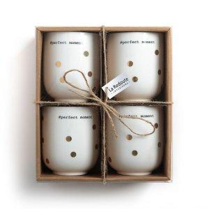 Комплект из 4 чайных чашек LaRedoute. Цвет: другие
