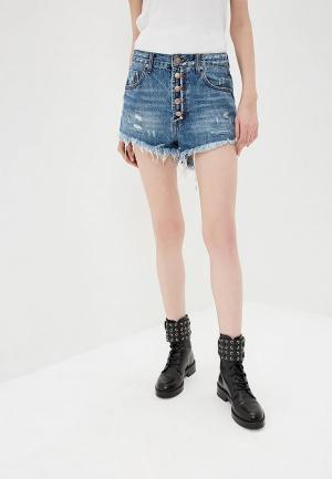 Шорты джинсовые One Teaspoon OUTLAWS. Цвет: синий