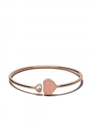 Браслет Happy Hearts из розового золота с бриллиантом Chopard. Цвет: розовый