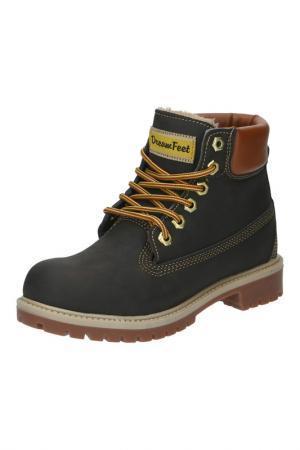 Ботинки DreamFeet. Цвет: коричневый