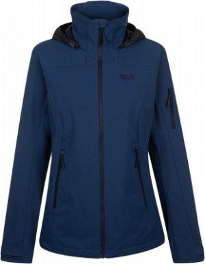 Куртка софтшелл женская Jack Wolfskin Esward Peak, размер 50. Цвет: синий