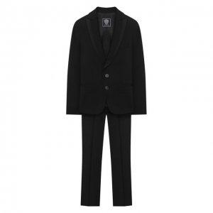 Шерстяной костюм Dal Lago. Цвет: чёрный