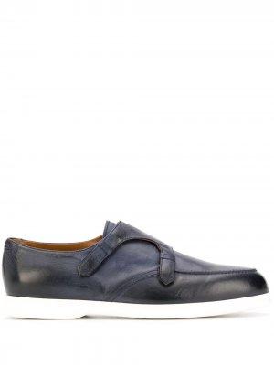 Doucals туфли монки с эффектом потертости Doucal's. Цвет: синий