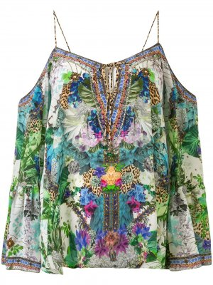 Блузка Moon Garden с приспущенными плечами Camilla. Цвет: разноцветный