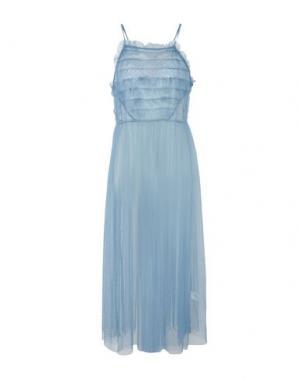 Длинное платье GLAMOUR. Цвет: пастельно-синий