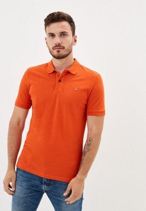 Поло Napapijri. Цвет: оранжевый