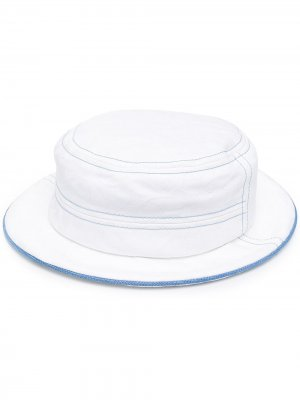 Шляпа с контрастной окантовкой 10 CORSO COMO. Цвет: белый - белый