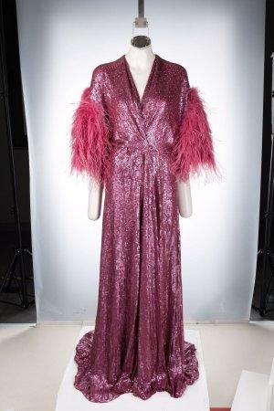 Платье с пайетками и перьями Jenny Packham. Цвет: розовый
