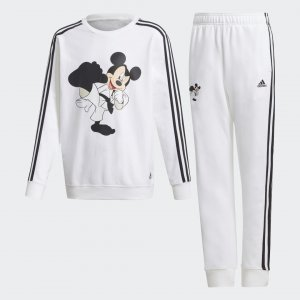 Комплект: брюки и джемпер Mickey Mouse Karate Performance adidas. Цвет: белый