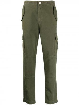 Прямые брюки карго J Brand. Цвет: зеленый
