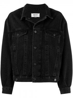 Джинсовая куртка с приспущенными плечами AGOLDE. Цвет: double exposure