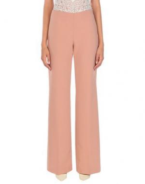 Повседневные брюки CARLA MONTANARINI. Цвет: телесный