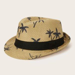 Детская панама шляпа с графическим принтом SHEIN. Цвет: хаки