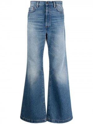 Расклешенные джинсы с завышенной талией Acne Studios. Цвет: синий